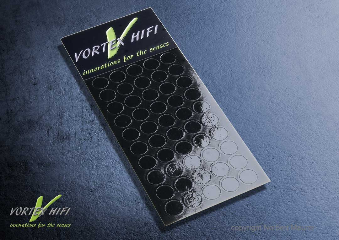 Vortex HiFi 2D - Entstör - Chips 6mm Schwarz